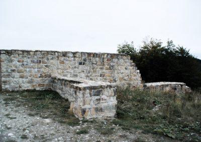 Grundmauern der Falkenburg Ruine