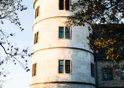 Turm der Wewelsburg bei schönem Wetter
